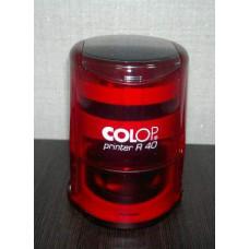 Изготовление печати ООО и ИП Colop R40 красная прозрачная